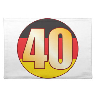 40 GERMANY Gold Placemat