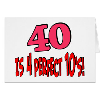 40 is 4 perfect 10s (PINK) Card