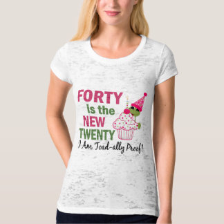 40 Is New 20 I Am Toad-ally Proof T-Shirt