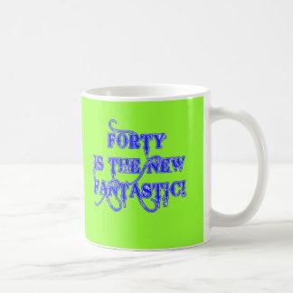 40 is the New Fantastic Products Basic White Mug