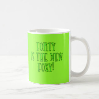 40 is the New Foxy Products Basic White Mug