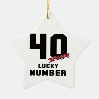 40 It's my lucky number Ceramic Star Decoration