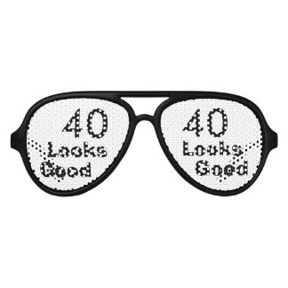 40 Looks Good © Funny 40th Birthday Gag Gift Party Shades