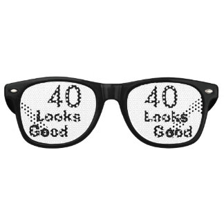 40 Looks Good © Funny 40th Birthday Gag Gift Retro Sunglasses