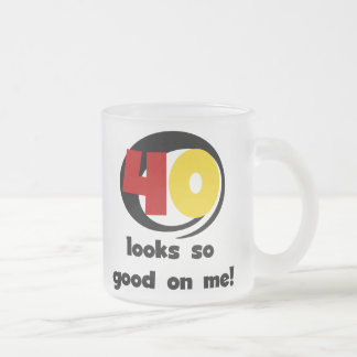 40 Looks So Good On Me T shirts and Gifts Frosted Glass Mug