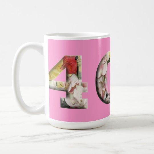 40 Milestone Drinkware 40th Customisable Mugs