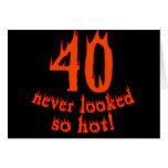 40 Never Looked So Hot Greeting Card