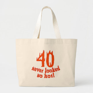40 Never Looked So Hot Jumbo Tote Bag