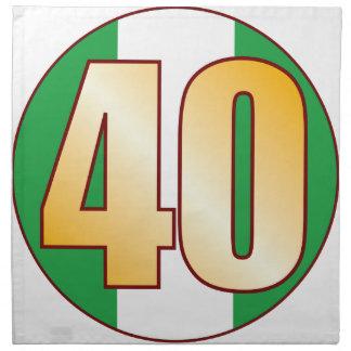 40 NIGERIA Gold Napkin