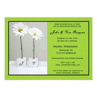 40 one year old huwelijksfeest 13 cm x 18 cm invitation card