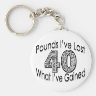 40 Pounds Lost Keychain