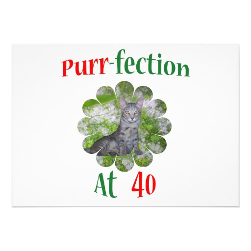 40 Purr-fection Custom Announcements