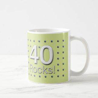 40 Rocks! Basic White Mug