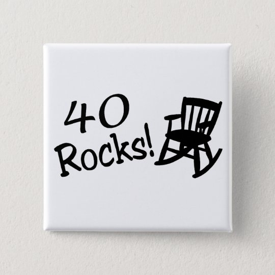 40 Rocks (Black Rocking Chair) 15 Cm Square Badge