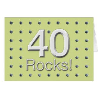 40 Rocks Greeting Card