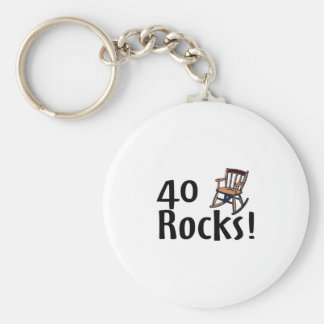 40 Rocks Key Ring