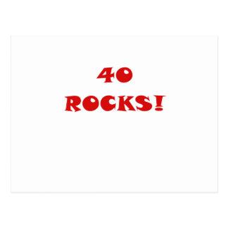 40 Rocks Postcard