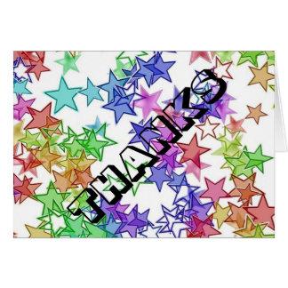 40 Something StarBurst Thank you Note Card