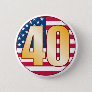 40 USA Gold 6 Cm Round Badge