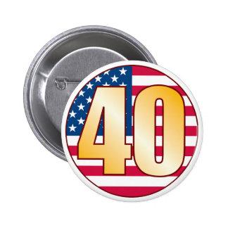 40 USA Gold 6 Cm Round Badge