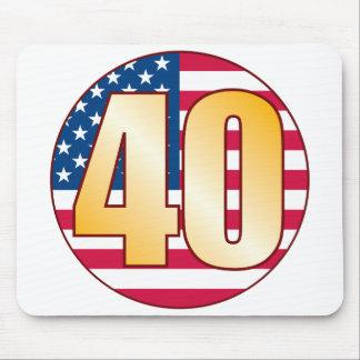 40 USA Gold Mouse Pad