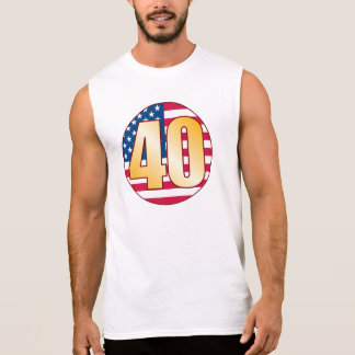 40 USA Gold Sleeveless Shirt