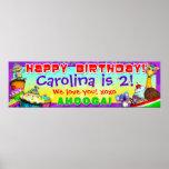 "40""x12"" GiggleBellies Cupcakes B-Day Banner Print"