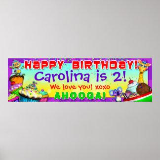 40 x12 GiggleBellies Cupcakes B-Day Banner Print