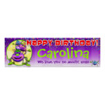 "40""x12"" GiggleBellies Itsy Bitsy Spiders Birthday Poster"