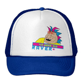 40 Year Old Raver Hat