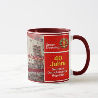 40 years DDR East Germany Mug