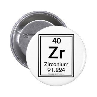 40 Zirconium 6 Cm Round Badge