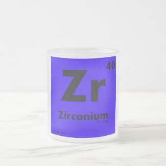 40 Zirconium | Periodic Table of Elements Frosted Glass Mug