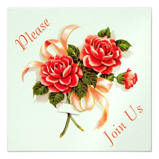40s Pink Roses Card