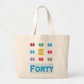 40th 40 Fortieth Anniversary Birthday ELEGANT gift Bag