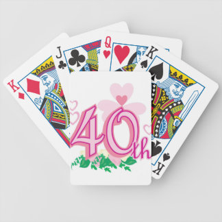 40th anniversary bicycle playing cards