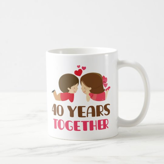 40th Anniversary Gift For Her Coffee Mug