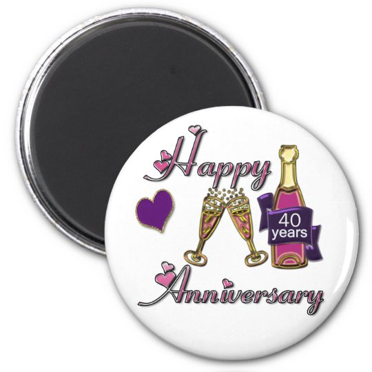 40th. Anniversary Magnet