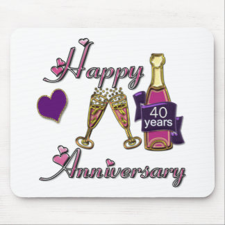 40th. Anniversary Mouse Mat