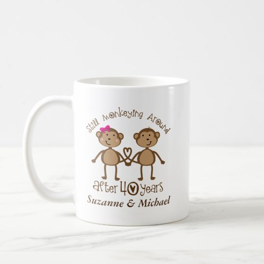 40th Anniversary Personalised 40 Year Mugs