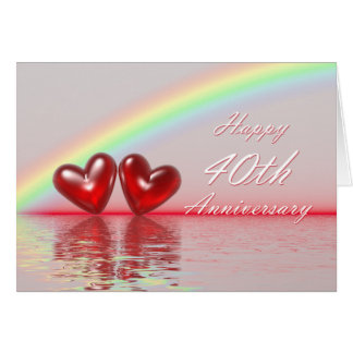 40th Anniversary Ruby Hearts Cards
