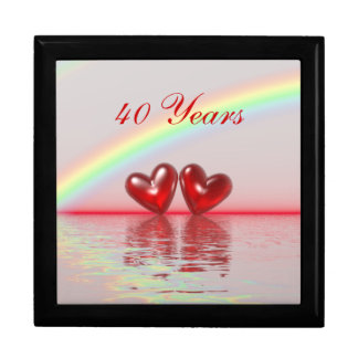 40th Anniversary Ruby Hearts Gift Box