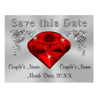 40th Anniversary Save the Date Cards PERSONALIZED Postcard