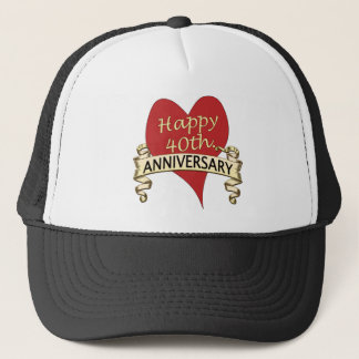 40th. Anniversary Trucker Hat