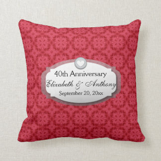 40th Anniversary Wedding Anniversary Ruby Red Z06 Cushion