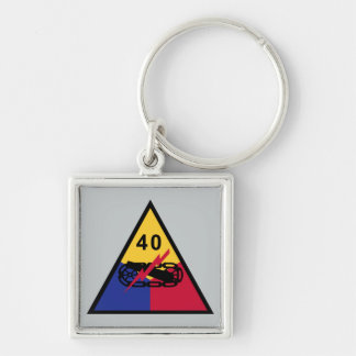 40th Armored Division Key Ring