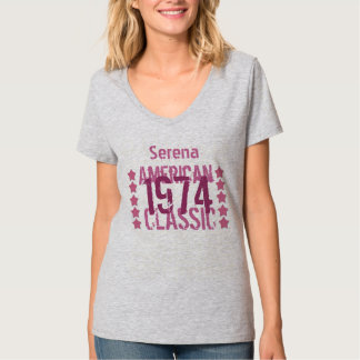 40th Birthday 1974 or any Year American Classic 1D Tee Shirt