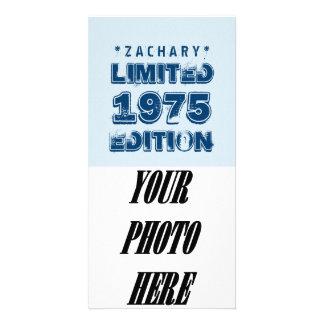 40th Birthday 1975 Limited Edition Custom E38 BLUE Photo Card