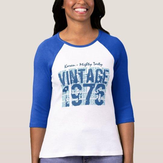 40th Birthday 1976 or ANY YEAR Vintage Grunge