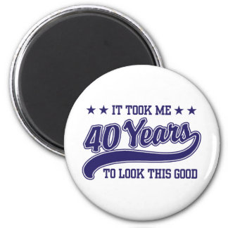 40th Birthday 6 Cm Round Magnet